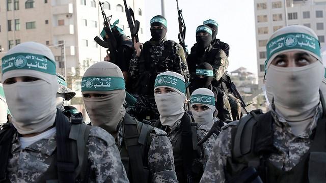 Miembros del ala militar de Hamás en Gaza.