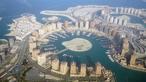Vista aérea de la capital catarí, Doha.