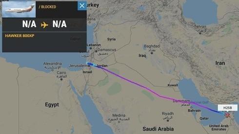 Un vuelo de Israel a Dubai no muestra datos satelitales de partida y arribo.