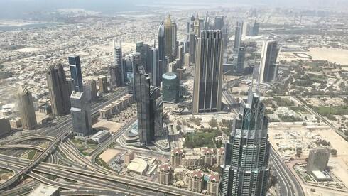 Vista aérea de Dubai.
