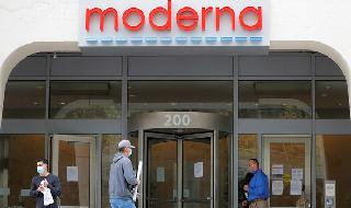 Las oficinas de Moderna en Cambridge, Massachusetts.