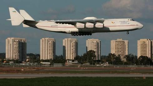 Visita anterior, en 2008, el Antonov An-225 en el aeropuerto Ben Gurion.