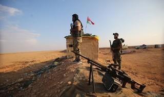Combatientes pro-iraníes en Siria, cerca de la frontera con Irak.