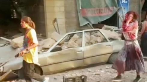 Destrozos en Beirut.