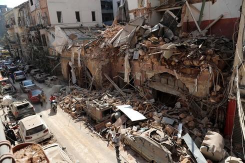 Destrucción en Beirut.