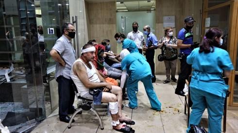 Heridos en un hospital libanés.
