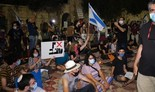 Protesta contra Netanyahu en Jerusalem.