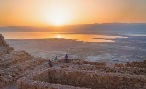 Amanecer en el Parque Nacional Masada.