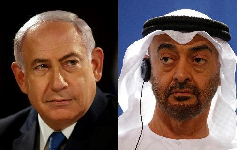 Benjamín Netanyahu, de Israel, y el príncipe Mohamed bin Zayed, de EAU, artífices del acuerdo más importante de los últimos años.