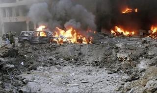 Atentado que acabó con la vida de Hariri y otras 21 personas en Beirut en 2005.