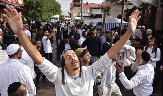 Judíos jasídicos en Uman, en 2019.