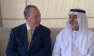 El rabino Marc Schneier y el ministro de Religión emiratí, Nahyan bin Mubarak Al Nahyan.