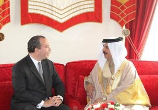 Reunión entre el rabino Marc Schneier y el rey de Bahrein, Hamad bin Isa.