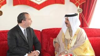 Reunión entre el rabino Marc Schneier y el rey de Bahréin, Hamad bin Isa al Jalifa.