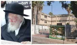 El rabino Chaim Kanievsky (izquierda) y la yeshivá Rina Shel Torah, en Karmiel, donde se contagiaron 200 de los 400 estudiantes.