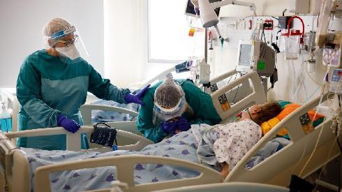 Cifras sobre los pacientes israelíes conectados a respiradores artificiales.