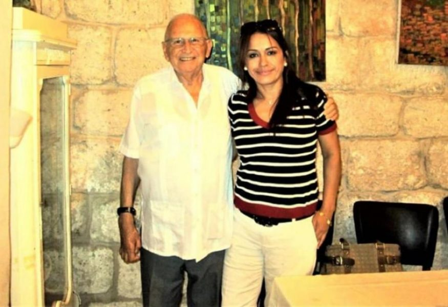 Adis Urieta Vega con el Sr. Steinberg