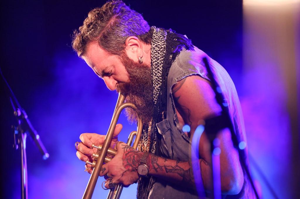 Avishai Cohen, trompetista israelí, este martes en el Festival de Jazz de Jerusalem.