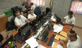 Monitoreo a pacientes con coronavirus en el Centro Médico Soroka en Be'er Sheva.