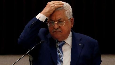 El presidente de la Autoridad Palestina, Mahmoud Abbas, durante la reunión de la Liga Árabe en El Cairo, Egipto.