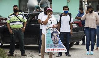 Manifestación en reclamo de justicia por los 43 estudiantes desparecidos.