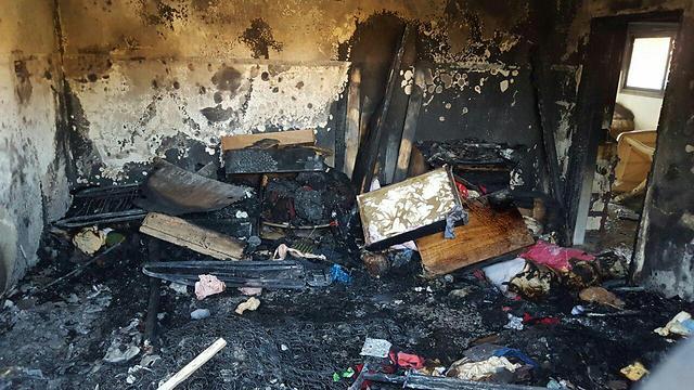 Restos de la casa de la familia Dawabsheh tras el ataque en 2015.