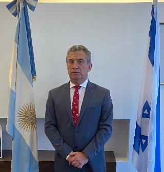 El embajador argentino en Israel, Sergio Urribarri.