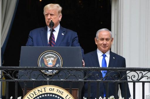 Donald Trump y el Primer Ministro de Israel Benjamin Netanyahu