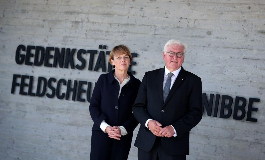 El presidente Frank Walter-Steinmeier y su esposa.