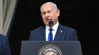 Netanyahu fue el segundo orador de la ceremonia en la Casa Blanca.