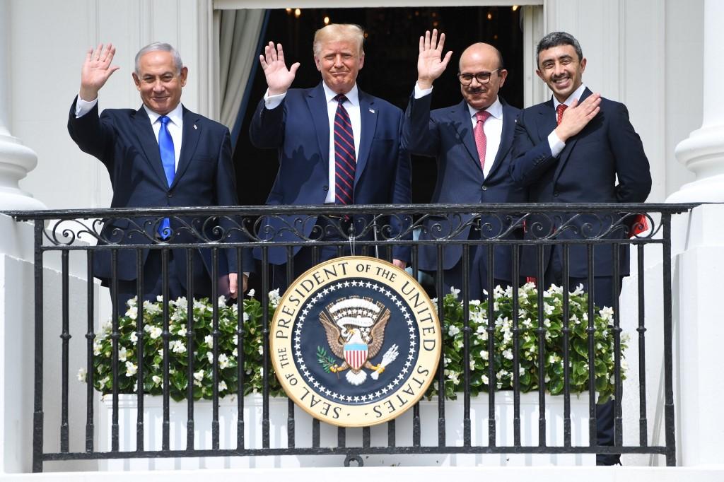 Netanyahu Trump EAU Bahrein