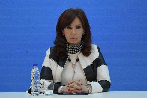 Cristina Fernández, presidenta del Senado argentino.