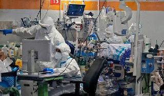 Sala de coronavirus en Sheba Medical Center.