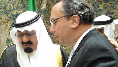 El rey Salman con el rabino Mark Schneier.