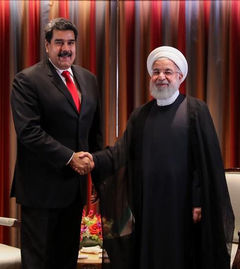 El presidente venezolano, Nicolás Maduro, y su homólogo iraní, Hassan Rouhani, durante una reunión en 2018.