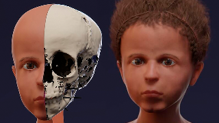 El rostro reconstruido de un niño egipcio que murió hace unos 2.000 años