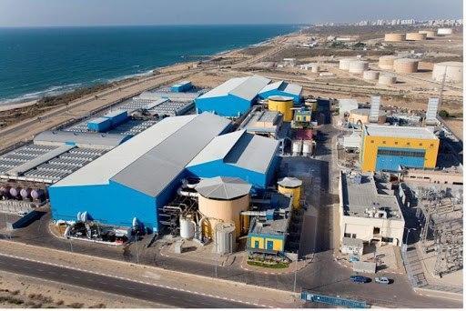 Una planta de tratamiento de agua en el sur de Israel.