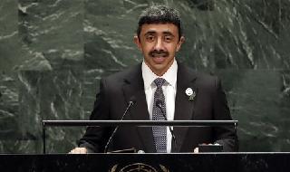 Abdullah bin Zayed Al Nahyan, ministro de Relaciones Exteriores de Emiratos.
