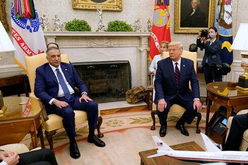 Trump y Al-Kadhimi, primer ministro de Irak en la Casa Blanca.