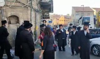 Ultraortodoxos en Jerusalem.