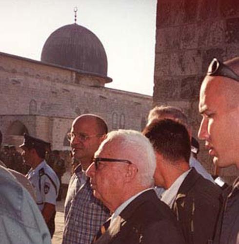 Ariel Sharon en el Monte del Templo.