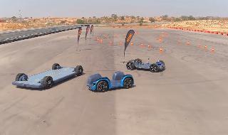 Los tres prototipos de autos eléctricos desarrollados por la empresa israelí.