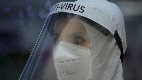 Personal de la sala de atención por coronavirus del Hospital Sheba.