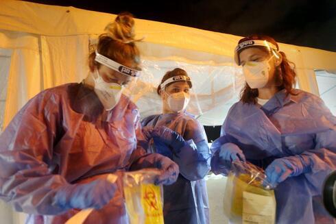Estación modular para pruebas de coronavirus.