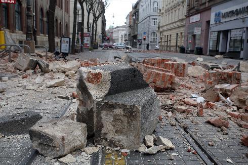Daños de un terremoto acaecido en Zagreb, Croacia, el 22 de marzo de este año.