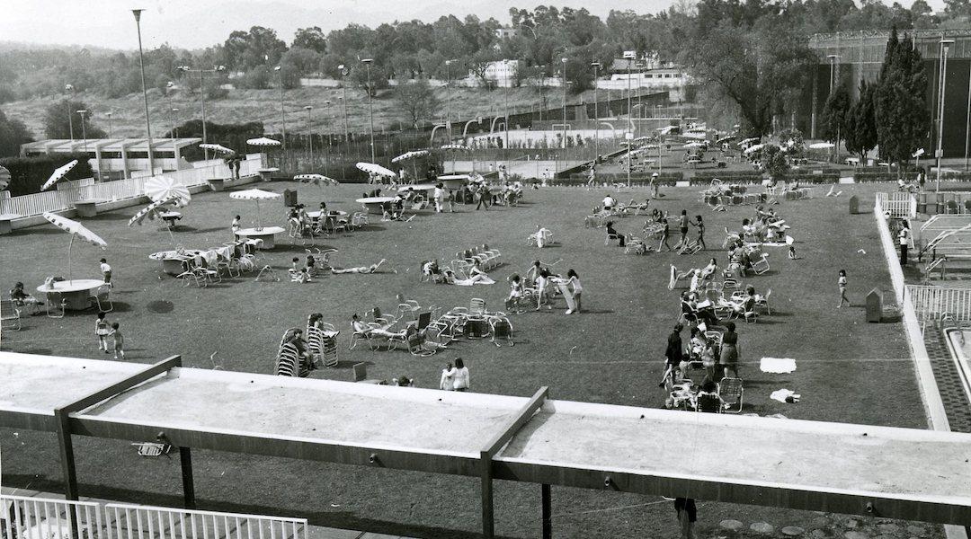 Una vista del césped principal en 1964.