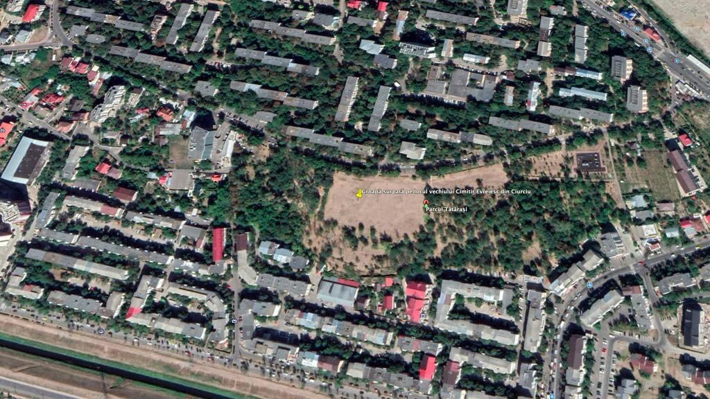 Lugar donde fueron ocultadas las lápidas robadas.