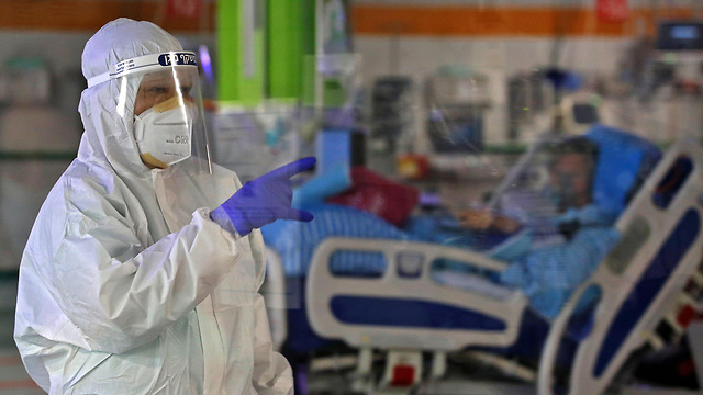 Sala de coronavirus en el Centro Médico Sheba.