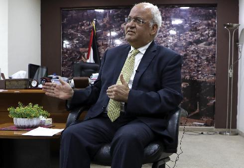 Saeb Erekat, histórico dirigente palestino.