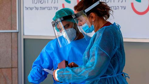 Sala de atención por coronavirus en el Hospital Sheba de Tel Aviv.